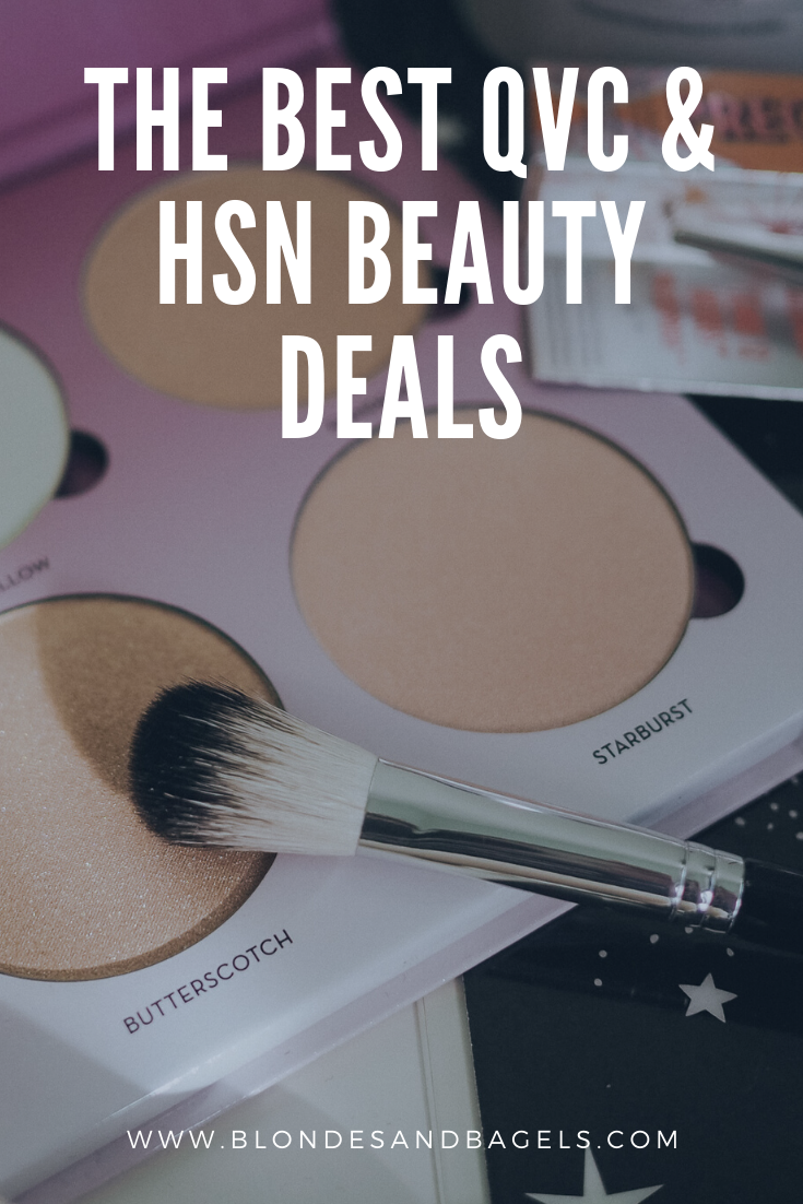 Lifestyle blogger Kelsey from Blondes & Bagels dishes out the best QVC and HSN beauty sales online right now! Find sales on all the best beauty brands.