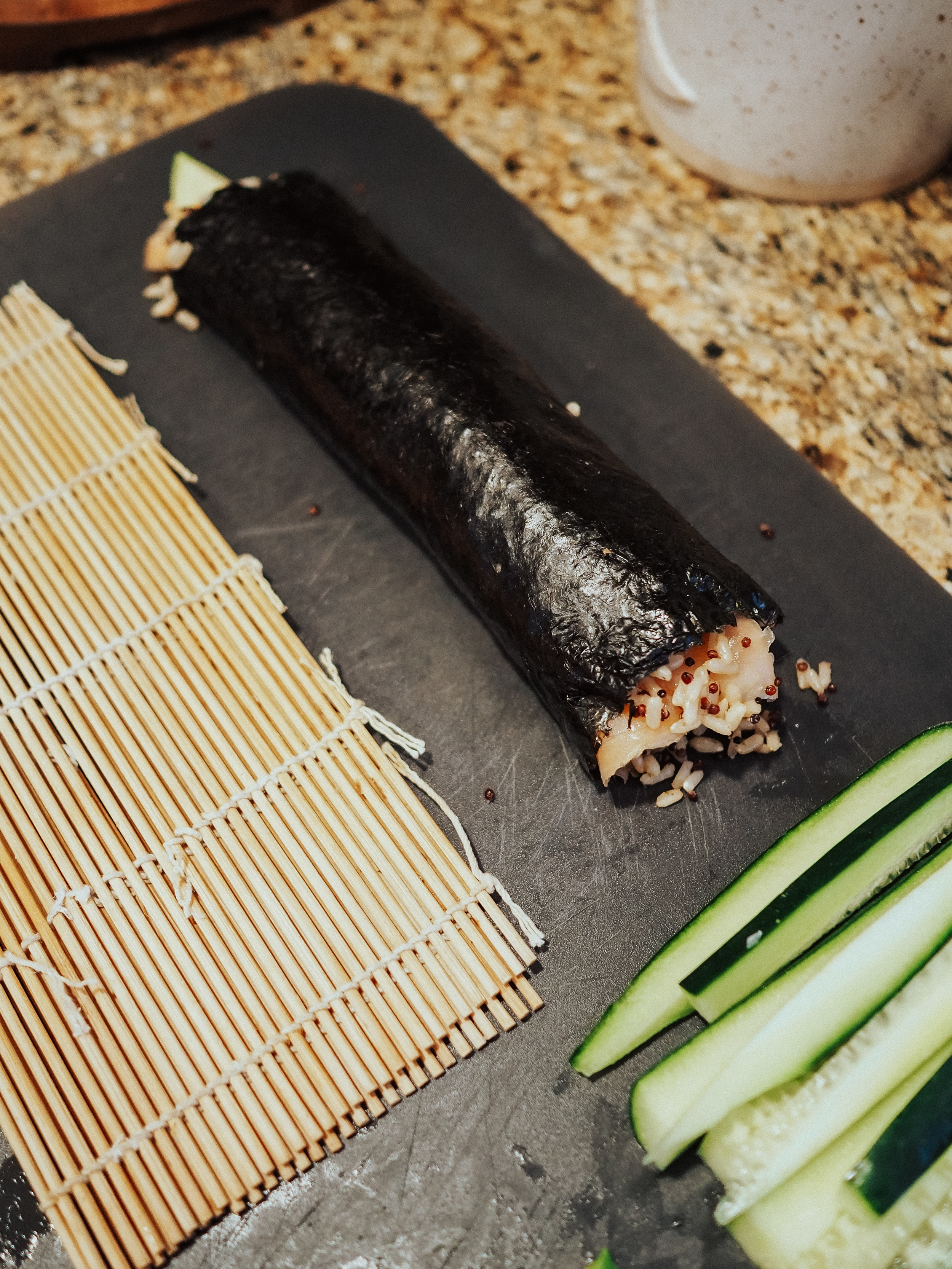 Make a healthy sushi burrito at home with this easy recipe! Sushi burritos are fun and easy to make DIY style at home.
